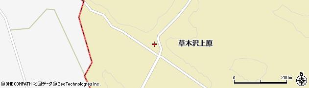 宮城県栗原市花山草木沢上原周辺の地図