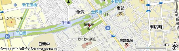 接引寺周辺の地図