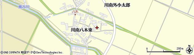 宮城県栗原市若柳川南八木東周辺の地図