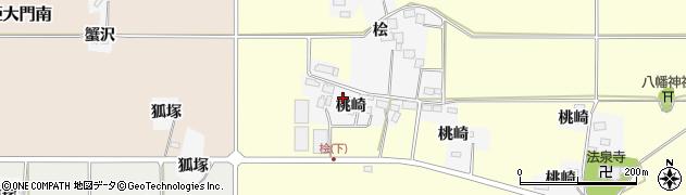 宮城県栗原市志波姫北郷桃崎周辺の地図