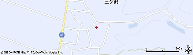 山形県東田川郡庄内町三ケ沢宮田22周辺の地図
