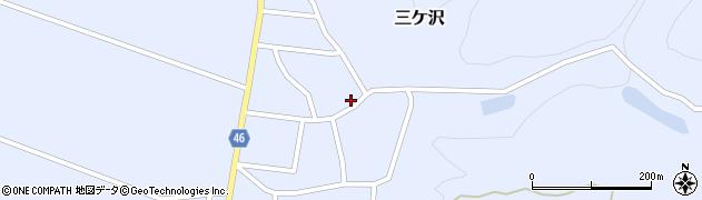 山形県東田川郡庄内町三ケ沢宮田26周辺の地図