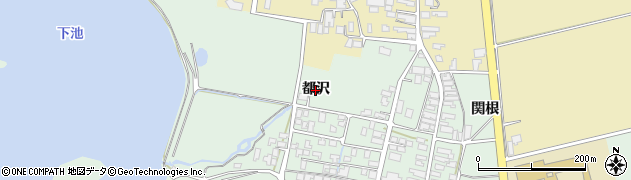 山形県鶴岡市大山(都沢)周辺の地図