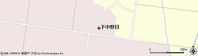 山形県鶴岡市下中野目(下水興屋)周辺の地図