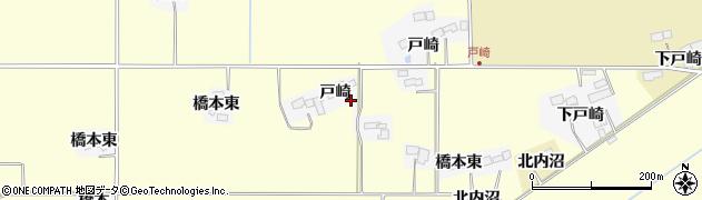 宮城県栗原市志波姫北郷戸崎周辺の地図