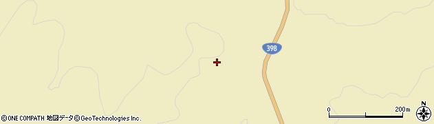 宮城県栗原市花山草木沢檜木山周辺の地図