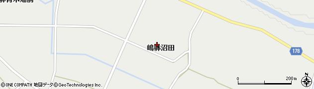 宮城県栗原市一迫嶋躰沼田周辺の地図