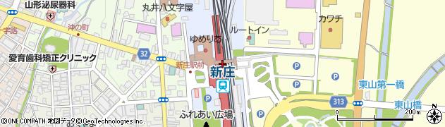 山形県新庄市周辺の地図