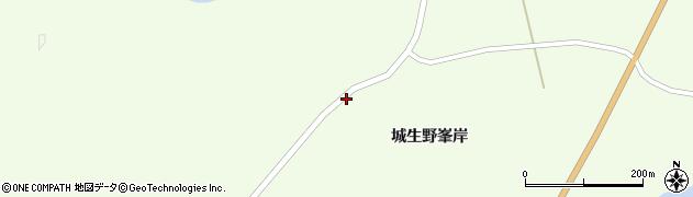 宮城県栗原市築館城生野越田周辺の地図