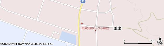 山形県東田川郡庄内町添津家ノ下23-1周辺の地図