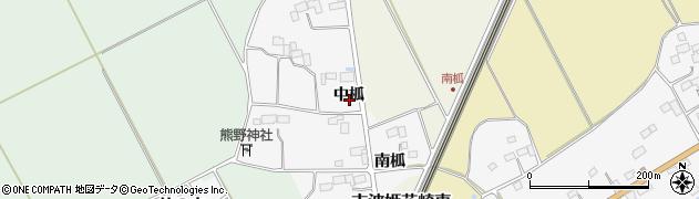 宮城県栗原市志波姫北郷中柧周辺の地図
