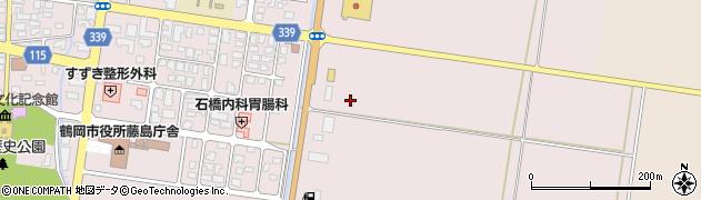 山形県鶴岡市藤島(鶴巻)周辺の地図