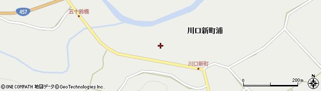 宮城県栗原市一迫川口新町浦周辺の地図