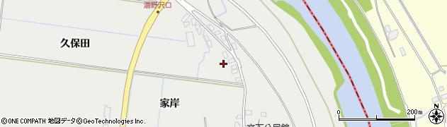 山形県鶴岡市文下(家岸)周辺の地図