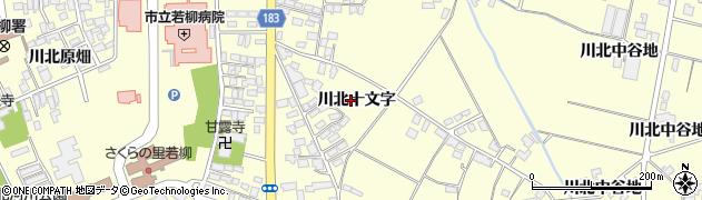 宮城県栗原市若柳川北十文字周辺の地図