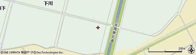 山形県鶴岡市下川(仲田)周辺の地図