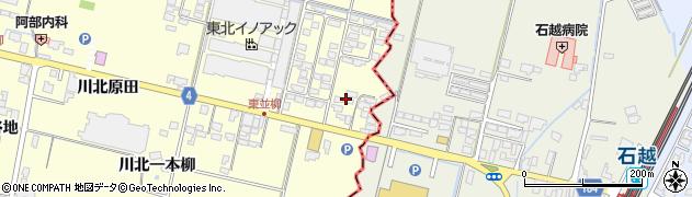 宮城県栗原市若柳川北東若柳周辺の地図