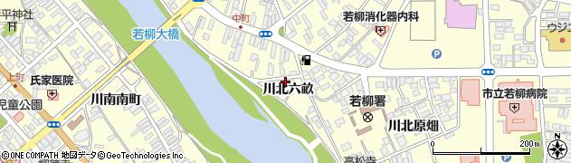 宮城県栗原市若柳川北六畝周辺の地図