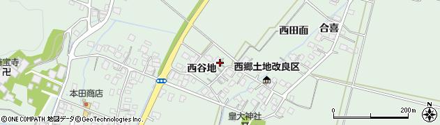 山形県鶴岡市下川(西谷地)周辺の地図