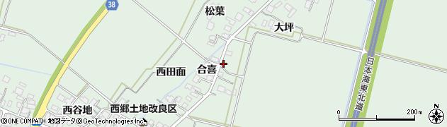 山形県鶴岡市下川(合喜)周辺の地図