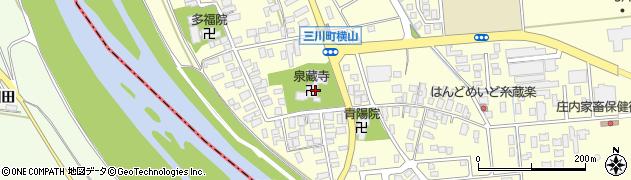 泉藏寺周辺の地図