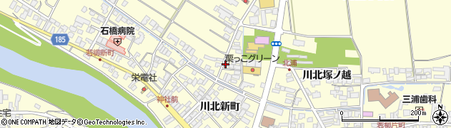 宮城県栗原市若柳川北塚ノ根周辺の地図