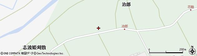 宮城県栗原市志波姫刈敷御蔵東周辺の地図