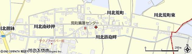 宮城県栗原市若柳川北荒町周辺の地図