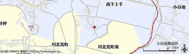 宮城県栗原市若柳武鎗南下土手周辺の地図