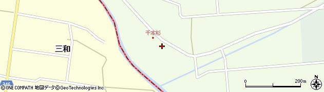 山形県東田川郡庄内町千本杉本村割69周辺の地図
