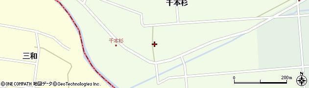 山形県東田川郡庄内町千本杉東割38周辺の地図