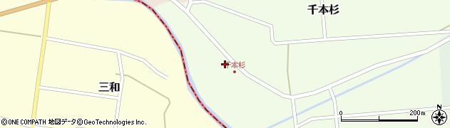 山形県東田川郡庄内町千本杉本村割65周辺の地図