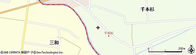 山形県東田川郡庄内町千本杉本村割34周辺の地図