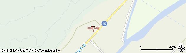 山形県東田川郡庄内町肝煎蟹澤43周辺の地図