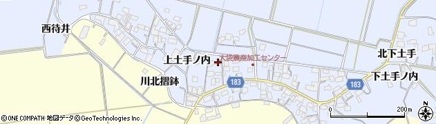 宮城県栗原市若柳武鎗上土手ノ内周辺の地図