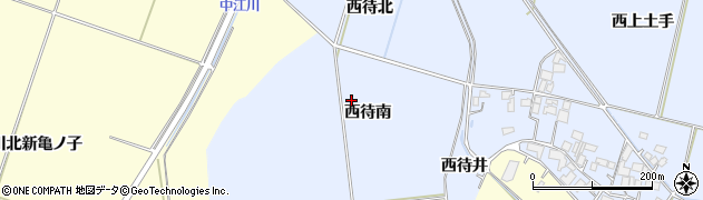 宮城県栗原市若柳武鎗西待南周辺の地図