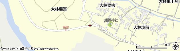 宮城県栗原市若柳大林白山周辺の地図