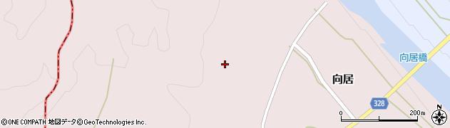 山形県最上郡鮭川村向居向居周辺の地図