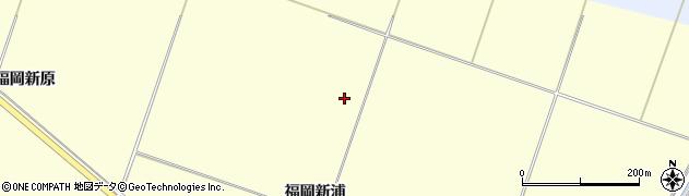 宮城県栗原市若柳福岡新浦周辺の地図