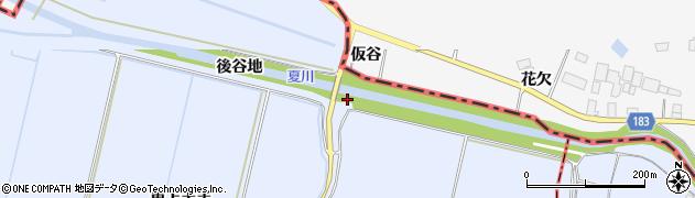 宮城県栗原市若柳武鎗後谷地周辺の地図