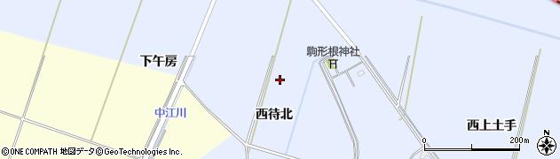 宮城県栗原市若柳武鎗西待北周辺の地図