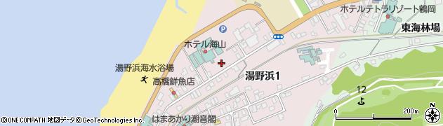 山形県鶴岡市湯野浜周辺の地図