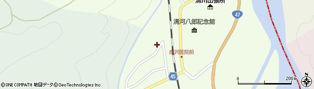 山形県東田川郡庄内町清川上川原23周辺の地図