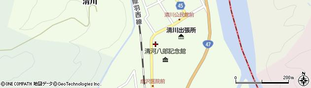 山形県東田川郡庄内町清川上川原47周辺の地図