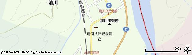 山形県東田川郡庄内町清川花崎15周辺の地図