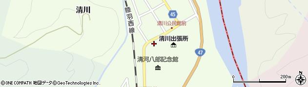 山形県東田川郡庄内町清川花崎13周辺の地図