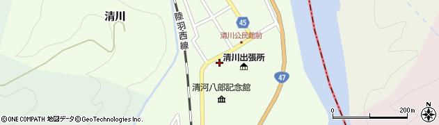 山形県東田川郡庄内町清川花崎12周辺の地図