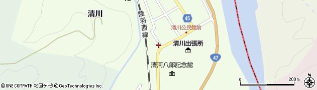 山形県東田川郡庄内町清川上川原54周辺の地図