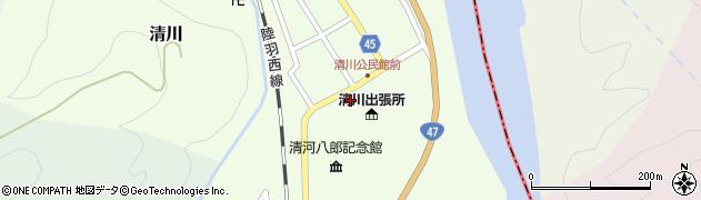 山形県東田川郡庄内町清川花崎7周辺の地図