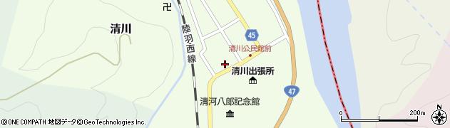山形県東田川郡庄内町清川花崎19周辺の地図